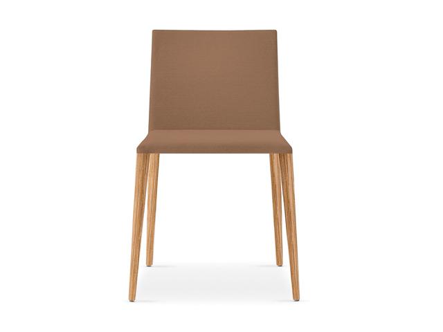 Lederen stoelen for Stoel houten poten